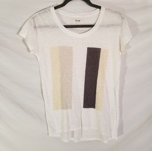 Madewell cream color linen tee xs